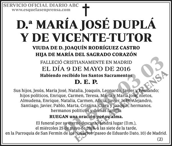 María José Duplá y de Vicente-Tutor